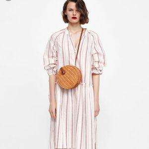 Zara raffia crossbody handbag